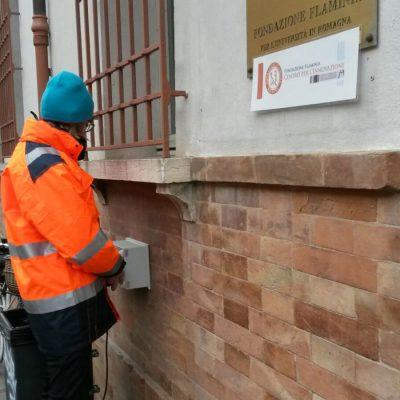 Prove non invasive su edifici monumentali a Ravenna, a  scopo di verifica sismica