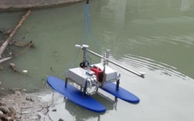 Multibeam operativo su drone per rilievi in laghi, fiumi chiusi, e bassi fondali